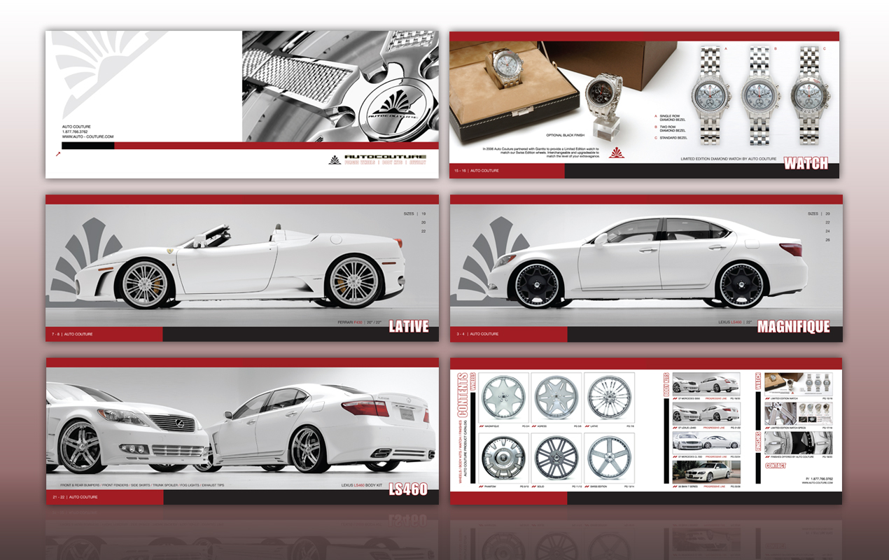 Auto Couture // 28 Page Product Catalog