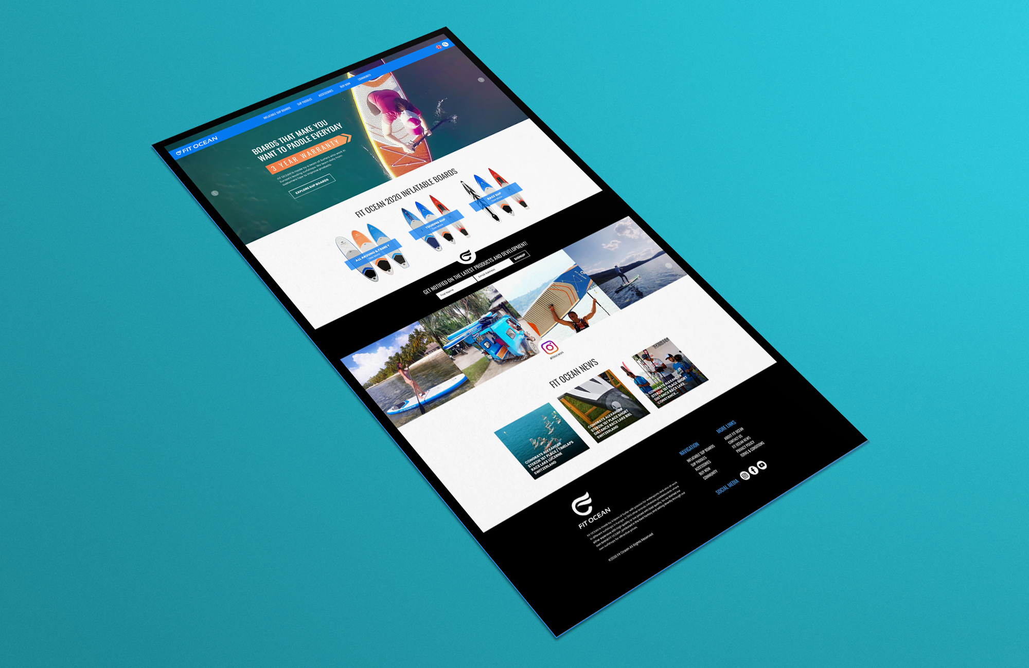 Website Homepage // Design & Layout