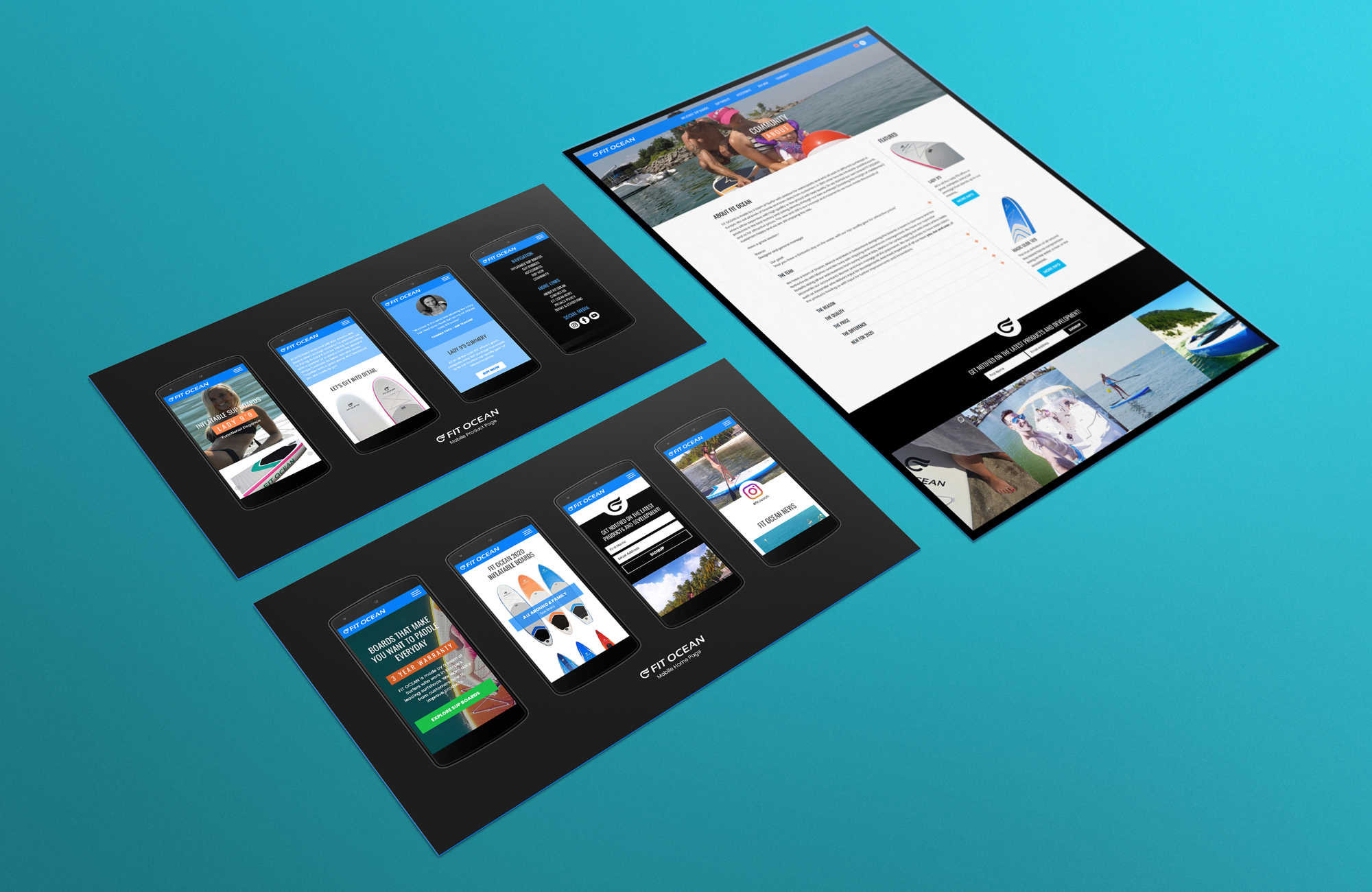 Website Content Page and Mobile Concept // Design & Layout